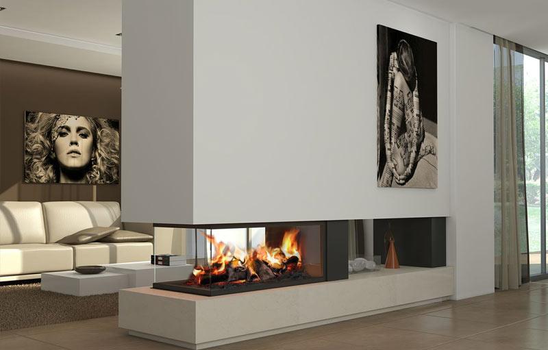 Salones con chimeneas modernas chimeneas modernas calor y - Salones con chimeneas modernas ...