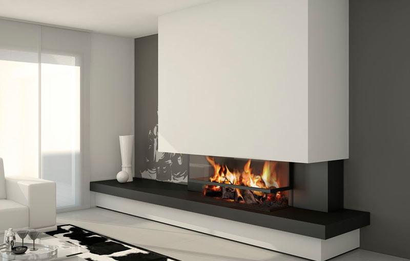 Chimenea moderna modelo oxford chimeneas modernas - Chimeneas de pared modernas ...