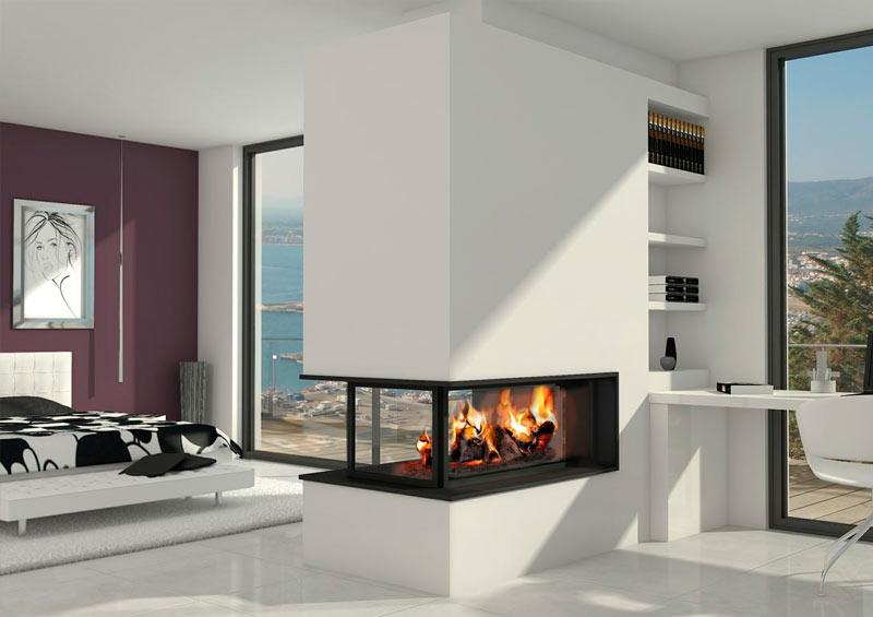 Chimeneas modernas chimeneas a gas bioetanol de le a for Diseno de hogares a lena modernos